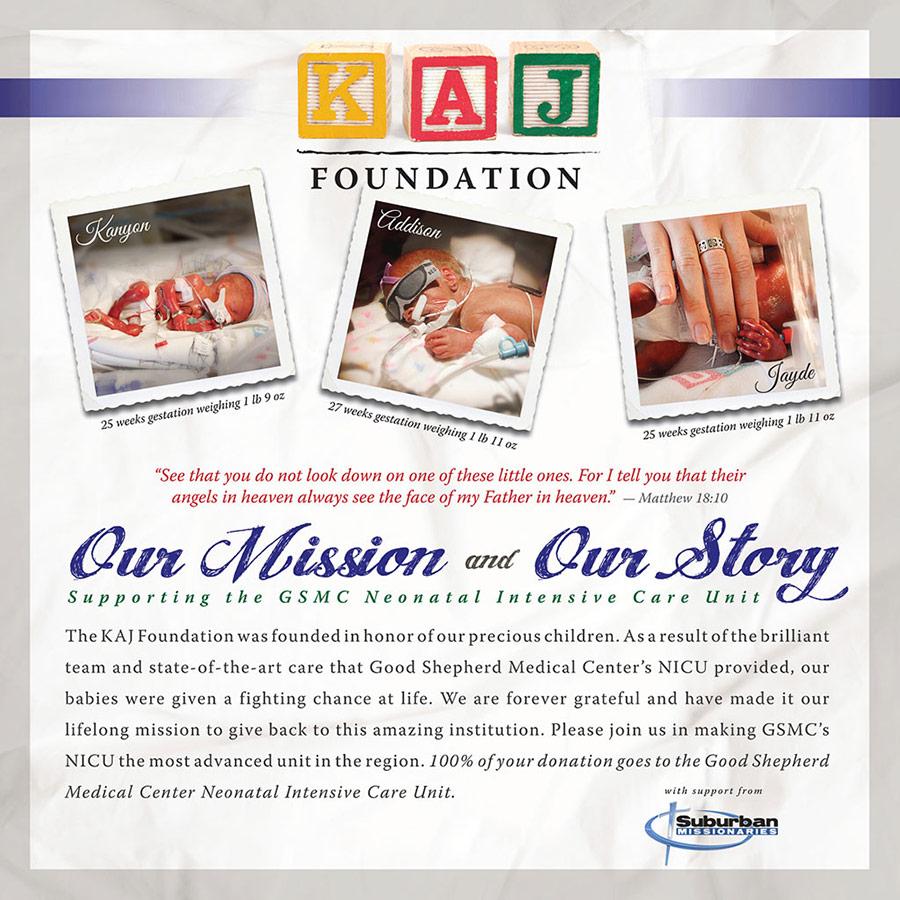 KAJ Foundation Mission Flyer