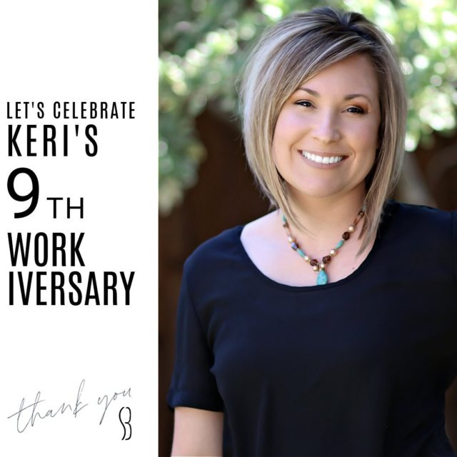 Let's give a round of applause to  Mrs. Keri! 👏🏼 👏🏼👏🏼 • Comment with some 👏🏼 to help show her our appreciation!  #bracesbysb #staffanniversary #SMILE #shermanandbriscoeorthodontics