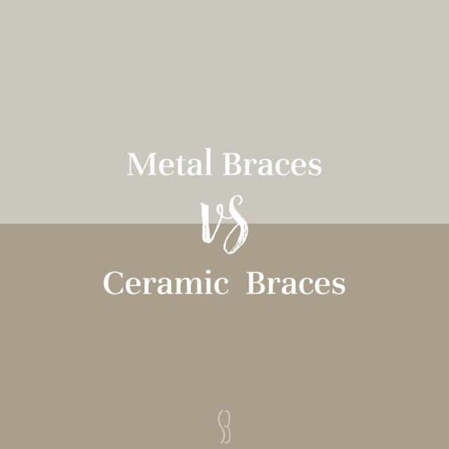 Are you interested❔  [Metal braces] Metal braces are the most common type of braces and are more comfortable today than ever before. With our metal braces, you can express yourself with our colored rubber bands so that YOU can DO YOU.  [Ceramic Brackets] Our ceramic braces are made of clear materials and are therefore less visible on your teeth than metal braces. All of our patients who choose this option absolutely LOVE these braces, especially adults and older teenagers because they are so much less visible.  CHOOSE YOUR STYLE !!