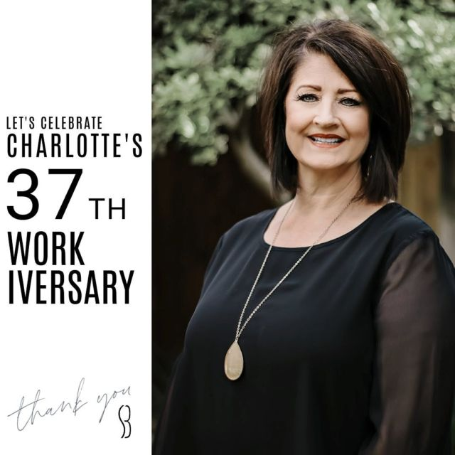 Let's give a round of applause to  Mrs. Charlotte!!👏🏼 👏🏼👏🏼 • Comment with some 👏🏼 to help show her our appreciation! 37 YEARS ! ! !   #bracesbysb #staffanniversary #SMILE #shermanandbriscoeorthodontics
