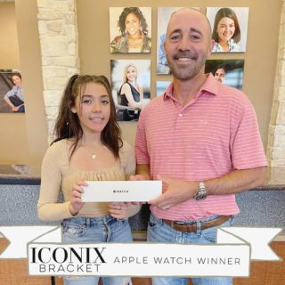 CONGRATULATIONS, Brianna! ⌚️ By choosing our ICONIX bracket system she was placed into our Apple Watch Drawing supplied by our rep at @americanorthodontics !   •CHOOSE YOUR STYLE•  She chose ICONIX